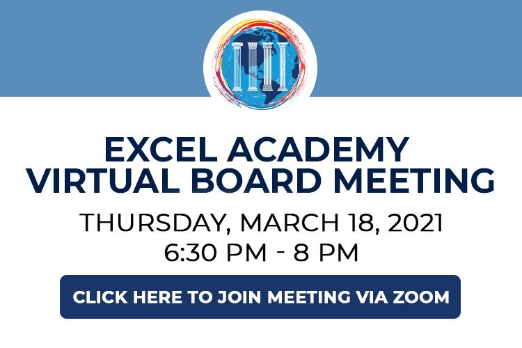 EXCEL Academy Virtual Board Meeting - 9/23/21